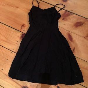Black Midi Sun Dress
